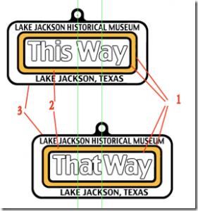 Rectangular rotating key ring