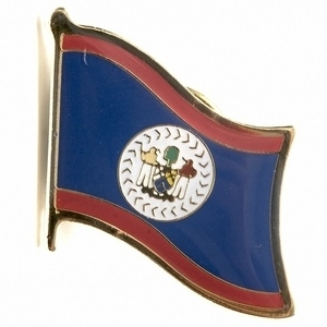 Belize flag pins