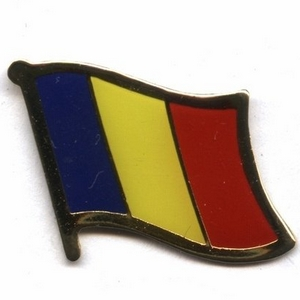 Chad flag pins