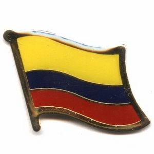 Columbia flag pins