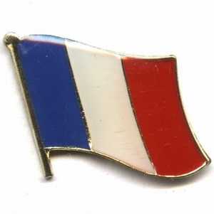 France & French flag pins