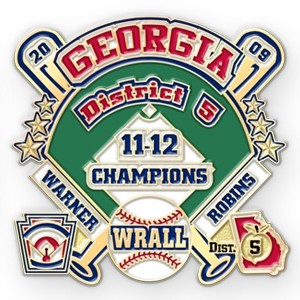 Georgia baseball lapel pin