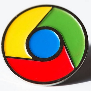 Google Chrome lapel pins