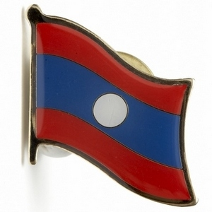 Laos flag pins