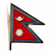 Nepal Flag Lapel Pins