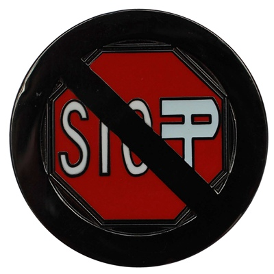 stop sign lapel pin