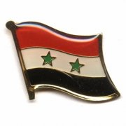 Syrian flag lapel pins