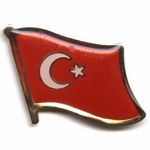 Turkey flag pins