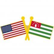 USA Abkhazia Flag Pins