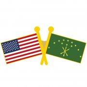 USA Adygea Flag Pins