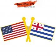 USA Ajaria Flag Pins