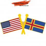 USA Aland Flag Pins