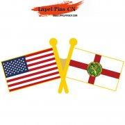 USA Alderney Flag Pin