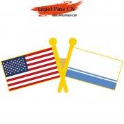 USA Altai flag pins