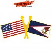 USA American Samoa Flag Pins