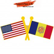 USA Andorra Flag Pins