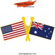 USA Australia Flag Pins