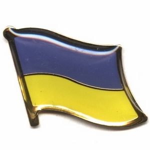 Ukraine flag pins