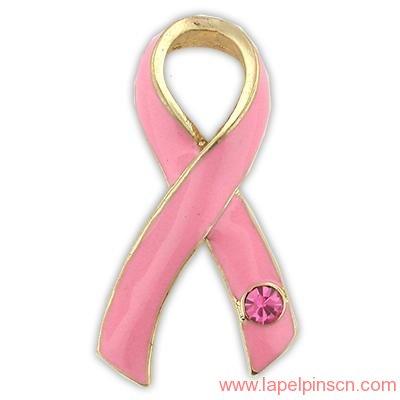 pink ribbon lapel pins