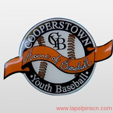 epoxy baseball lapel pin