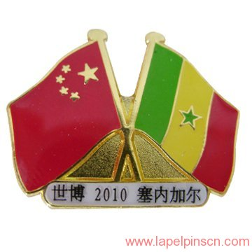 Senegal flag lapel pin