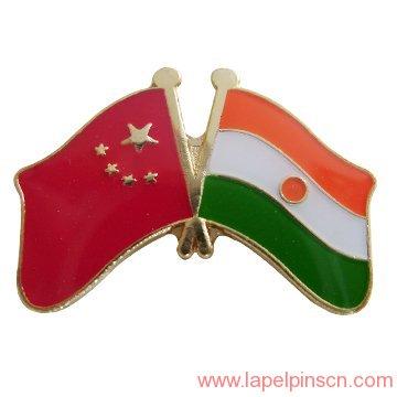 India flag pin