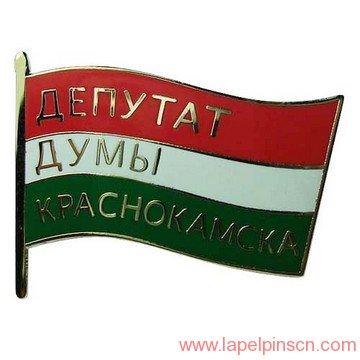 unique Hungary flag pin
