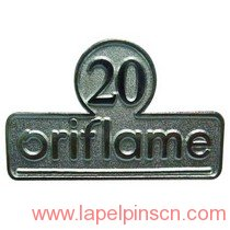 20 years service lapel pin