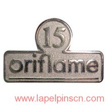 15 years service lapel pin