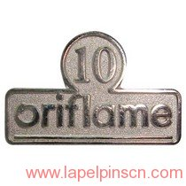 10 years service lapel pin