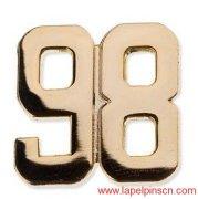 Number Lapel Pins