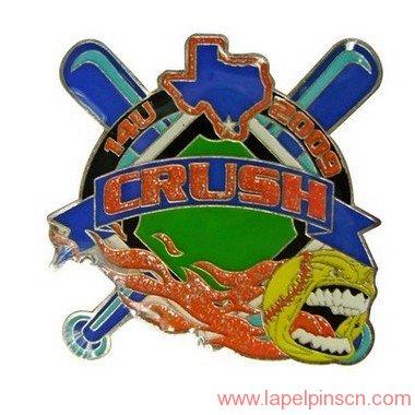 youth baseball trading pin