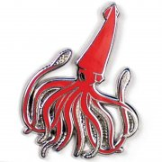 Custom Squid Enamel Pins