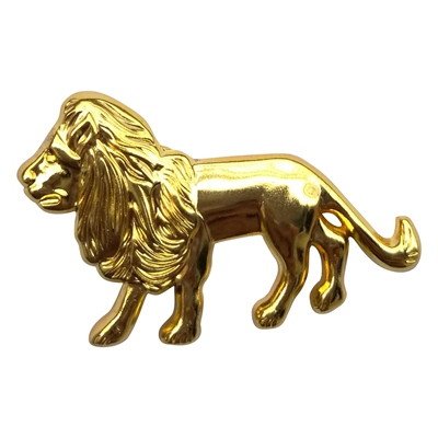 gold lion lapel pin
