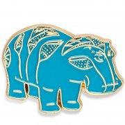 Hippo Enamel Pins