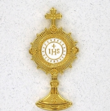 monstrance lapel pins