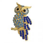 Owl Rhinestone Pins