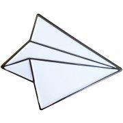 Paper Plane Lapel Pins