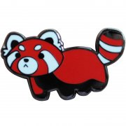 Red Panda Enamel Pins