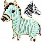 Zebra Enamel Lapel Pins
